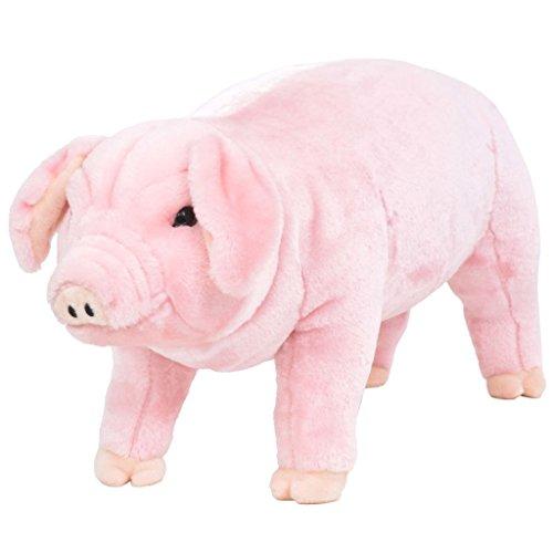 vidaXL Plüschtier Stehend Schwein XXL Plüschspielzeug Kuscheltier Stofftier