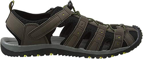 Gola Shingle 3, Sandalias Atléticas para Hombre, Marrón (Dark Brown/Black/Sun), 49 EU