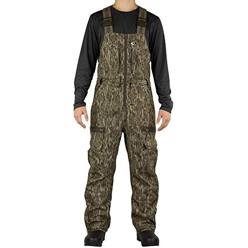 Mossy Oak Sherpa 2.0 Fleece Lined Camo Hunting Bib Overalls for Men, Bottomland, Medium