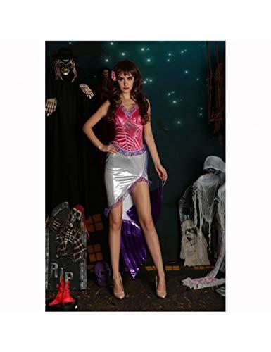 GBYAY Meerjungfrau Cosplay Kostüm Frauen Fantasie Bühne Leistung Kleider Fisch Verkleidung Halloween Weibliche Erwachsene Party Strand Anzug
