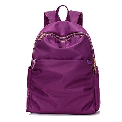 BUKUANG Oxford Sac à Bandoulière En Tissu Dame Sac à Dos En Nylon Mode Grand Sac En Toile Capacité,Purple