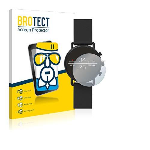 BROTECT Panzerglas Schutzfolie kompatibel mit Skagen Smartwatch Falster 2 - AirGlass, extrem Kratzfest, Anti-Fingerprint, Ultra-transparent