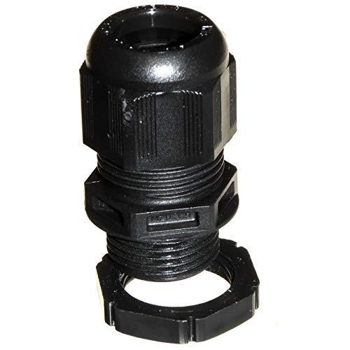 5 x Wiska 20mm Stuffing Gland With Locknut White IP68