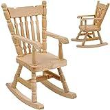 alles-meine.de GmbH Miniatur - Schaukelstuhl / Stuhl - helles Natur Holz - Maßstab 1:12 - Mini -...