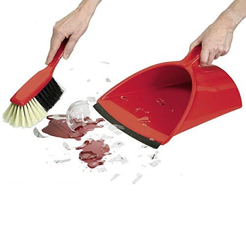Delfin Jumbo-Profi Gastro Kehrgarnitur in rot, Kunststoff, Regular