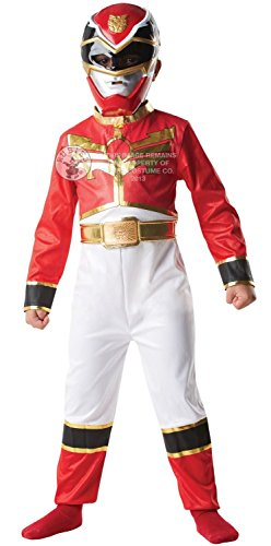 Red Megaforce Power Rangers Costume, Tuta e maschera, 7/8 anni