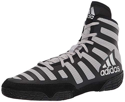 adidas Men's Varner Wrestling Shoe, Black/Grey/Grey, 5.5