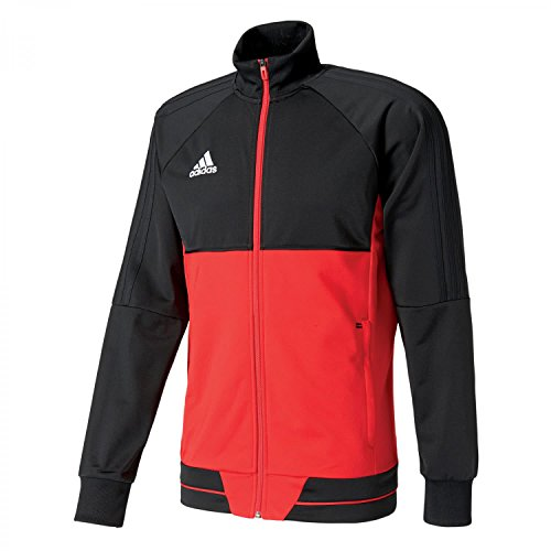 adidas Tiro 17 PES Jacket Chaqueta, Hombre, Negro/Blanco (Escarl), M