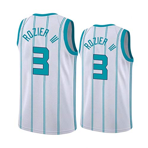 CYYX NBA Men's Jersey, Charlotte Hornets # 3 Terry Rozier Classic Jersey, Tejido Fresco Transpirable, Ventilador de Baloncesto Unisex Sin Mangas Sports Chaleco (3 Estilos),A,XXL