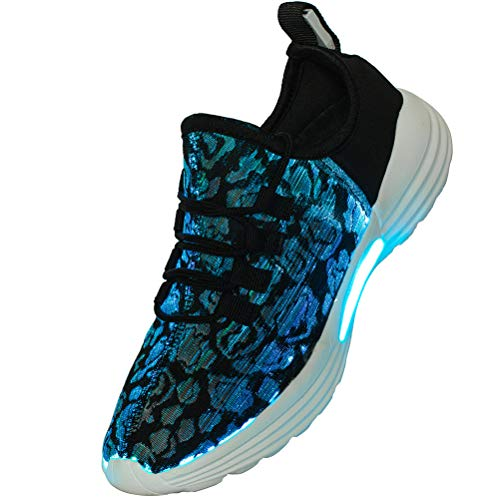 Lxso Fiber Optic LED Light Up Shoes for Women Men USB Charging Flashing Luminous Fashion Sneakers for Festivals Party