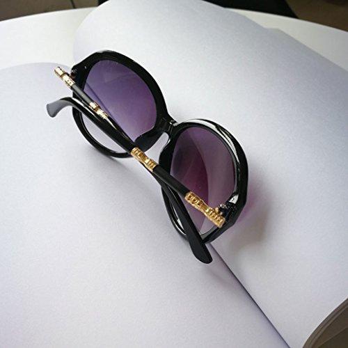 Sharplace 2xFashion Gafas de Sol Talladas de Calidad para Mujer Gafas con Montura Grande Estampado de Leopardo Negro Brillante