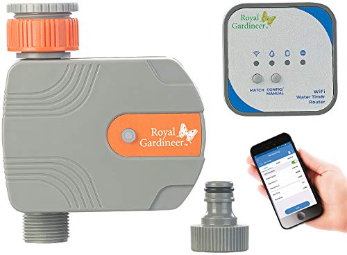 Royal Gardineer Bewässerung WiFi: Bewässerungs-Computer mit WLAN-Gateway und Steuerung per App (Bewässerungscomputer WLAN)