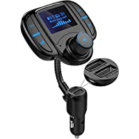 Lasar Bluetooth FM Transmitter for Car with 1.7'' LCD Screen, Dual USB Ports and AUX
