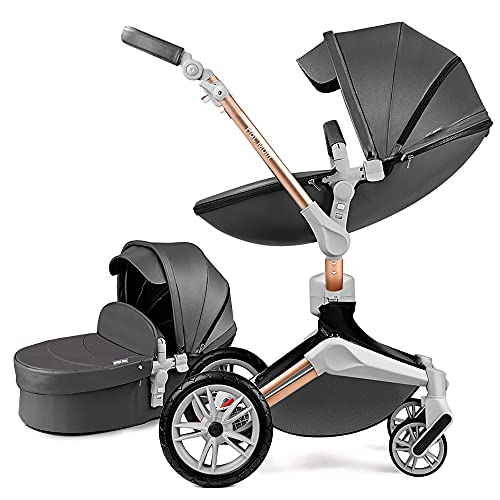 Hot Mom Kombikinderwagen 2 in 1 Kinderwagen 2020 Neues Design 360 Drehbar
