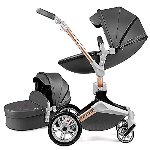 Hot Mom Silla de paseo Reversibilidad rotación multifuncional de 360 grados con buggy asiento...