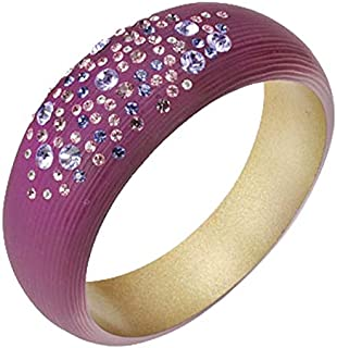 Royal Purple Resin Bangle with Cubic Zirconia Detail