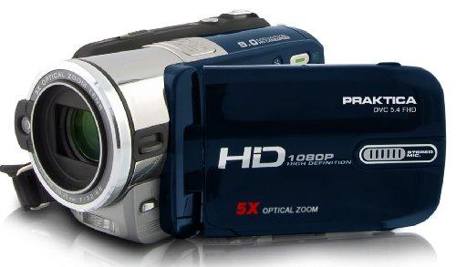 Praktica DVC 5.4 HD-Camcorder (SD/SDHC-Card, 5 Megapixel, 5-Fach optischer Zoom)