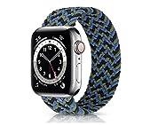 Nuovo cinturino elastico in nylon per Apple Watch 6 Se Band per IWatch Serie 5 4 3 Cinturino cinturino intrecciato Solo Loop 38mm 40mm 42mm 44mm Cinturino per orologio (colore cinturino: blu verde,