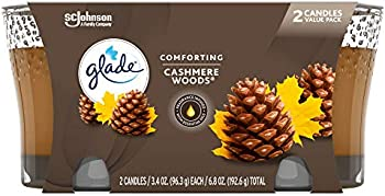 2-Count Glade Cashmere Woods Air Freshener Candle Jar, 3.4 Oz
