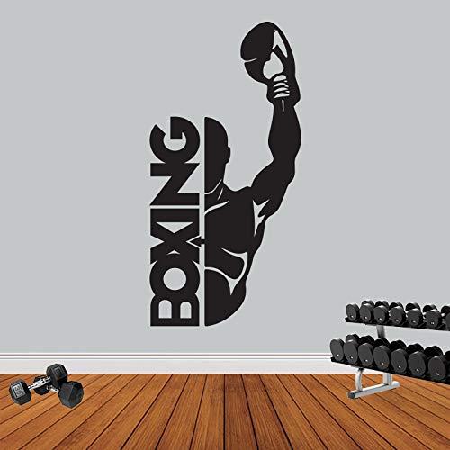 Wandtattoo/Wandaufkleber/Wandaufkleber, Motiv Boxen/Sport/Fitness - XLarge (150cm x 80cm)