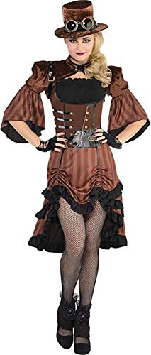AMSCAN Steamy Dreamy Steampunk Halloween Costume for Women, Medium, with Included Accessories