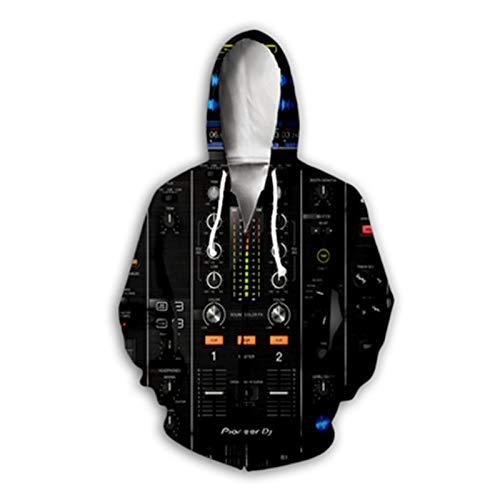 Sudaderas con Cuello Redondo DJ Disco 3D Printed Hoodie Unisex Streetwear