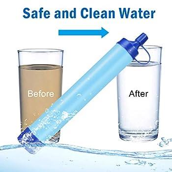 Majome filtre à eau personnel paille purificateur d'eau Portable ensemble Filtration d'eau extérieure paille équipement de survie d'urgence