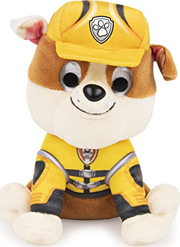 "GUND PAW Patrol: The Movie Rubble Stuffed Animal Plush Dog  6"""