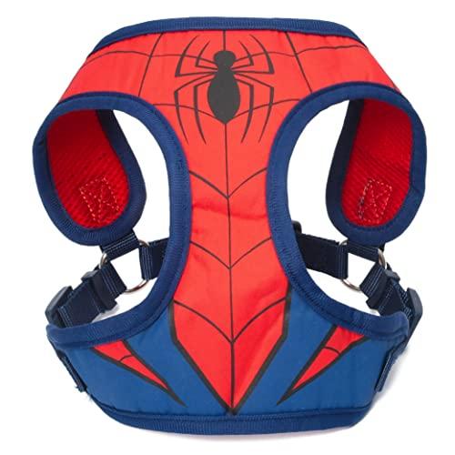 Marvel Comics Spiderman Superhero Dog Harness for Large Dogs   No Pull Dog Harness, Dog Vest Harness   Red No Escape Large Dog Harness Spiderman Dog Costume in Size Large (L)