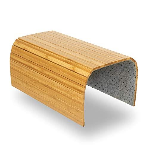 BamBooBox Sofatablett/Sofaablage aus Bambus für Getränke, Snacks etc. - Armlehnen Ablage aus Massivholz