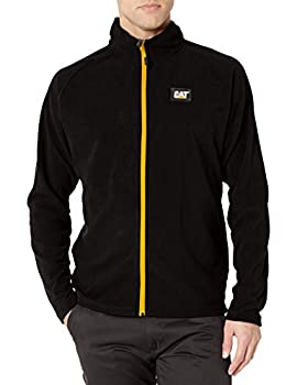 Caterpillar Men s Concord Fleece Jacket  Regular and Big Sizes  Black Large