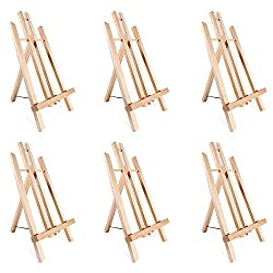 Wood Frame Folding Easel Art Display Stand 6 Inches Tall