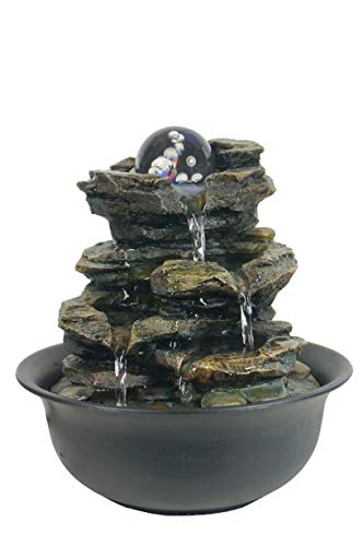 Creative Touch Heart of Nature Indoor Water Fountain with LED Light | Size...