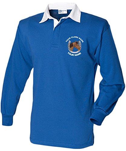 Swagwear Equestrian brodé personnalisé pour enfant Cross Country équitation Polo de rugby pour homme 6 couleurs