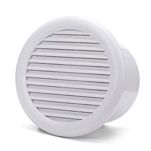 LANDUA Abzugshaube, Weiß Vertikale Entladung Deckenlüftungsventilator, weißes Quadrat-Kunststoff