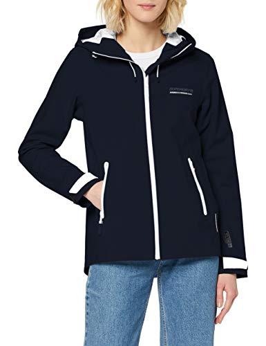 Superdry Damen LS Essentials Harpa Waterproof Jacket Jacke, Blau (Atlantic Navy GKV), XL