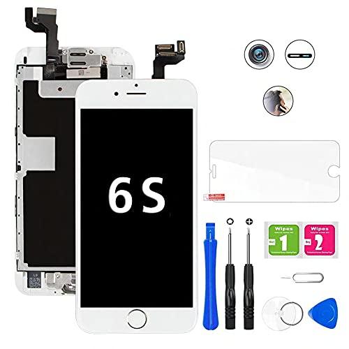 Hoonyer Display per iPhone 6S Touch Screen LCD Digitizer Schermo 4,7' Utensili Inclusi(con Pulsante Home, Fotocamera, sensore Flex) Bianco