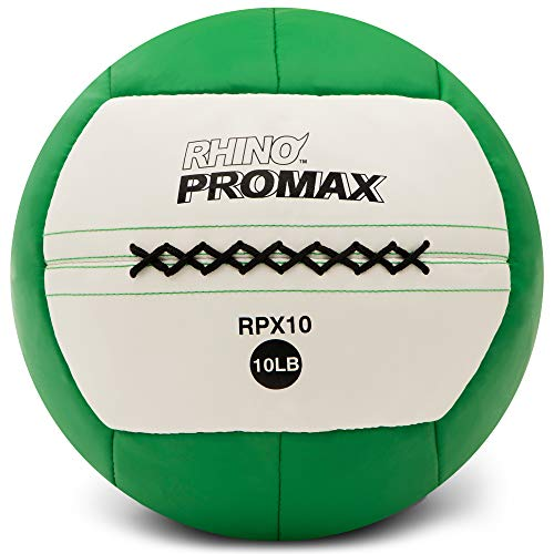 Champion Sports RPX10 Rhino Promax Slam Balls, 10 lb, Soft Shell with Non-Slip Grip, Medicine Wall Exercise Ball for Weightlifting, Plyometrics, Cross Training, & Home Gym Fitness