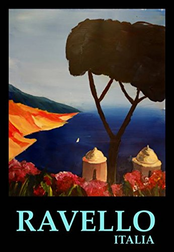 Wall Art Print Entitled Ravello Salerno Italy View of Amalfi Coast Retro V by M Bleichner | 22 x 32