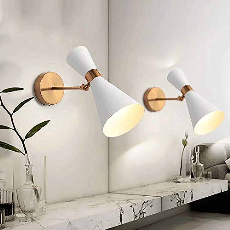 LLYU Moderne minimalistische Wandleuchte Nordic Wohnzimmer Gang Schlafzimmer Nachttisch kreative LED Badezimmer Spiegel Scheinwerfer (Farbe   Wei)