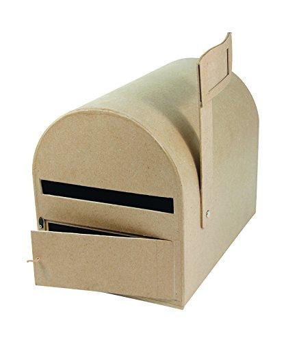 Décopatch EV001O Briefkasten (aus Pappmaché zum Verzieren und Personalisieren, 29 x 19 x 23 cm) 1 Stück kartonbraun