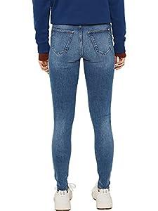 ESPRIT Damen 999Ee1B811 Skinny Jeans, Blau (Blue Medium Wash 902), W28/L34 (Herstellergröße: 28/34)