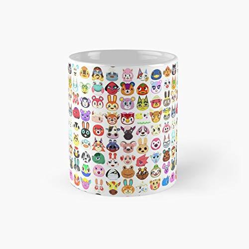 Villagers Pattern Classic Mug | Mejor regalo divertido tazas de café 12 oz