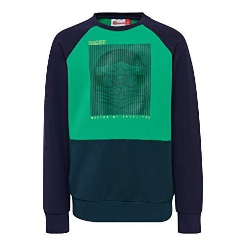 Lego Wear Jungen LWSIAM 784-SWEATSHIRT Sweatshirt, Grün (Dark Khaki 889), (Herstellergröße: 110)