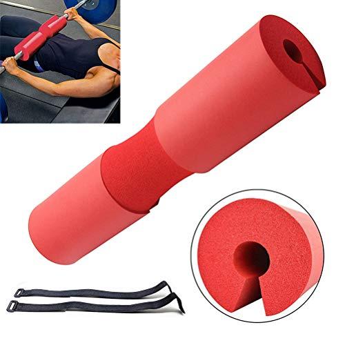 Langhantel-Squat-Pad, Nacken- und Schulterschutzpolster mit Sicherungsgurten, Langhantel-Pad-Unterstützung für Gewichtheben, Kniebeugen und Hüftstöße