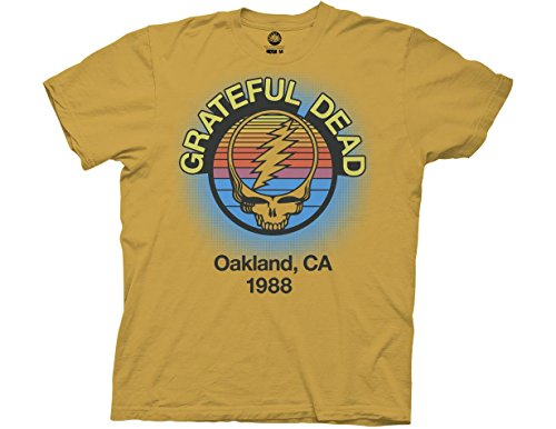 Ripple Junction Grateful Dead Adult Unisex Oakland 88 Light Weight 100% Cotton Crew T-Shirt XL Ginger