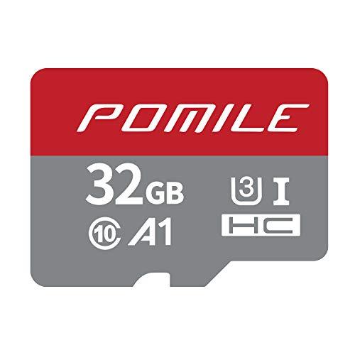 POMILE 32 GB MicroSDHC-geheugenkaart met A1-toepassingsprestaties, snelheden tot 100 MB/s, niveau 10, U3-versie met hoge snelheid