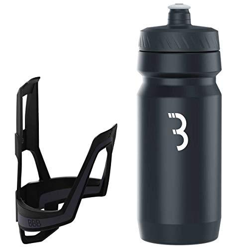 BBB Cycling Flaschenhalter Fahrrad Combo Fueltank Wasserflasche BBC-03C, Dunkelgrau/Schwarz/Weiß, 550 ml