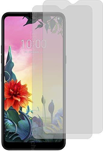 4ProTec I 2X Schutzfolie KLAR passexakt für LG K50S Bildschirmschutzfolie Displayschutzfolie Schutzhülle Bildschirmschutz Bildschirmfolie Folie