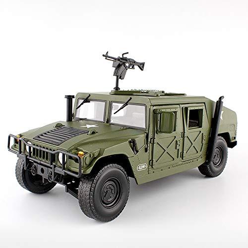 TIAO Vehículo blindado Militar 1:18 Escala de aleación fundida a presión con Juguete de pasatiempo Abierto de 5 Puertas para cumpleaños de niños